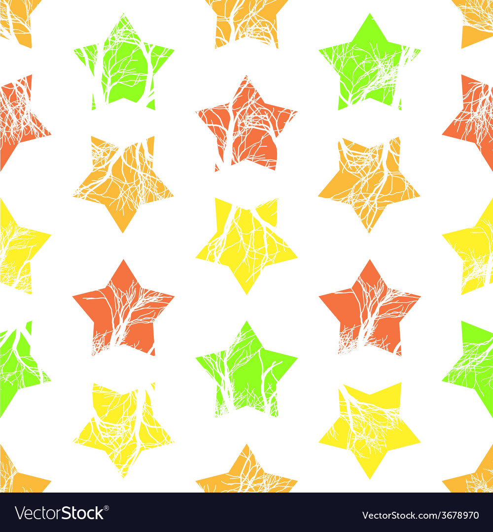Abstract colorful stars seamless pattern vector | Price: 1 Credit (USD $1)