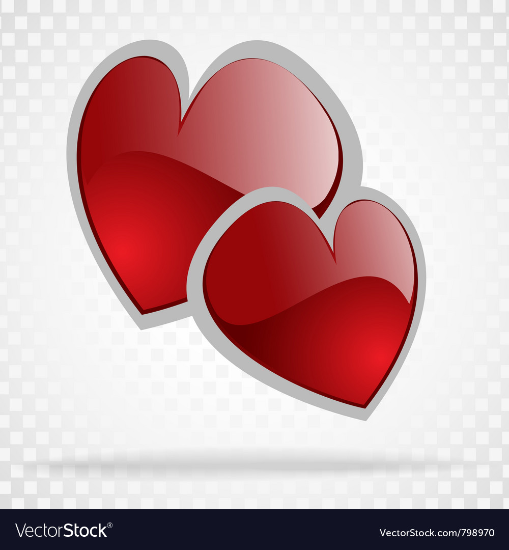 Background day valentine on white vector | Price: 1 Credit (USD $1)