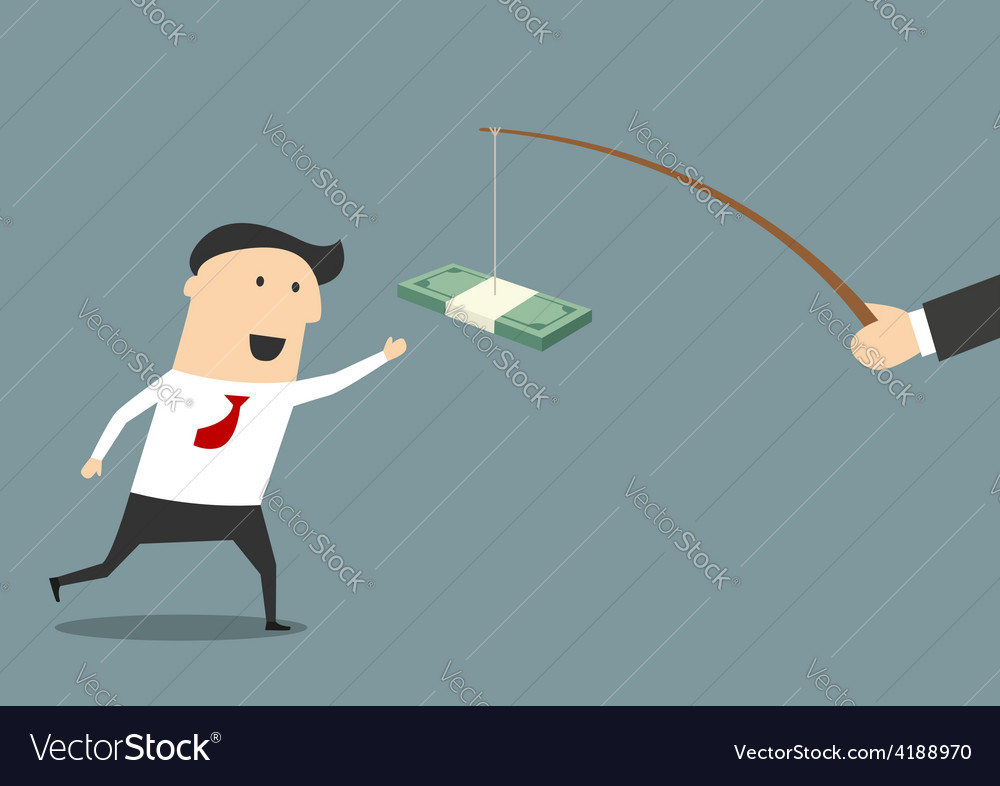 Businessman running after a bribe vector | Price: 1 Credit (USD $1)