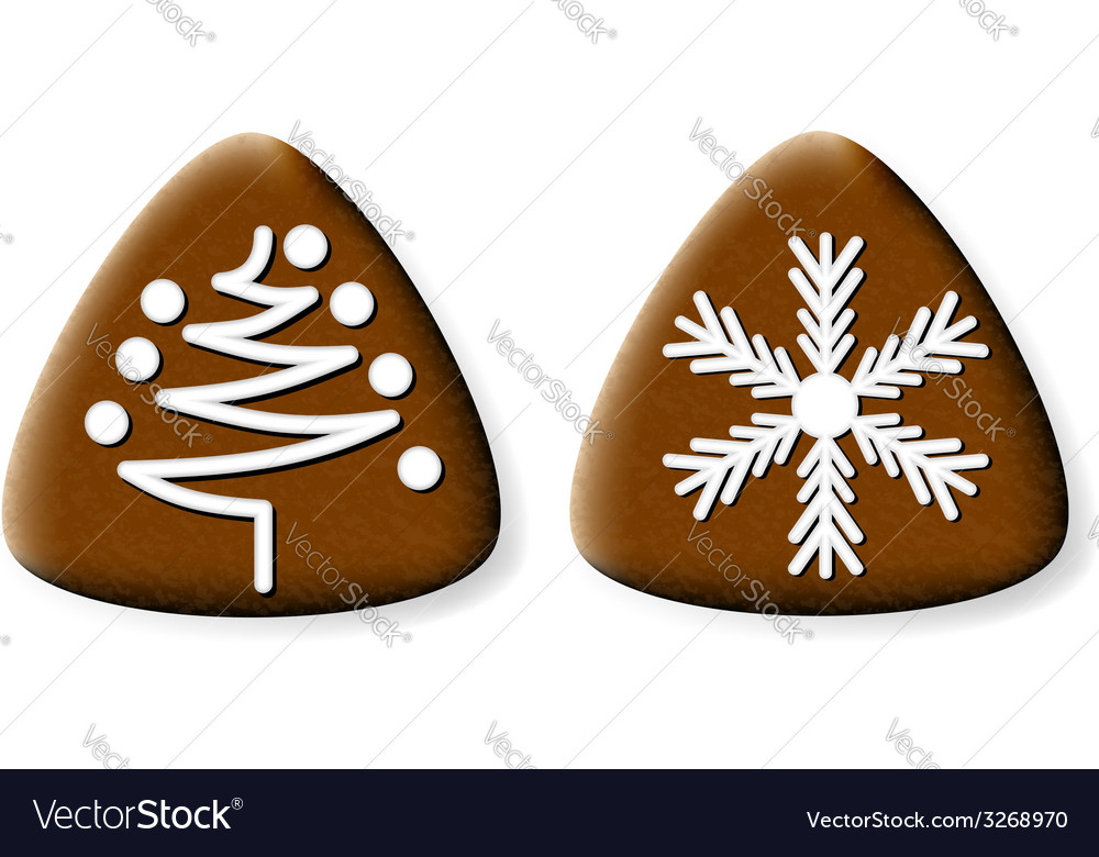 Christmas gingerbread cookies 2 vector | Price: 1 Credit (USD $1)