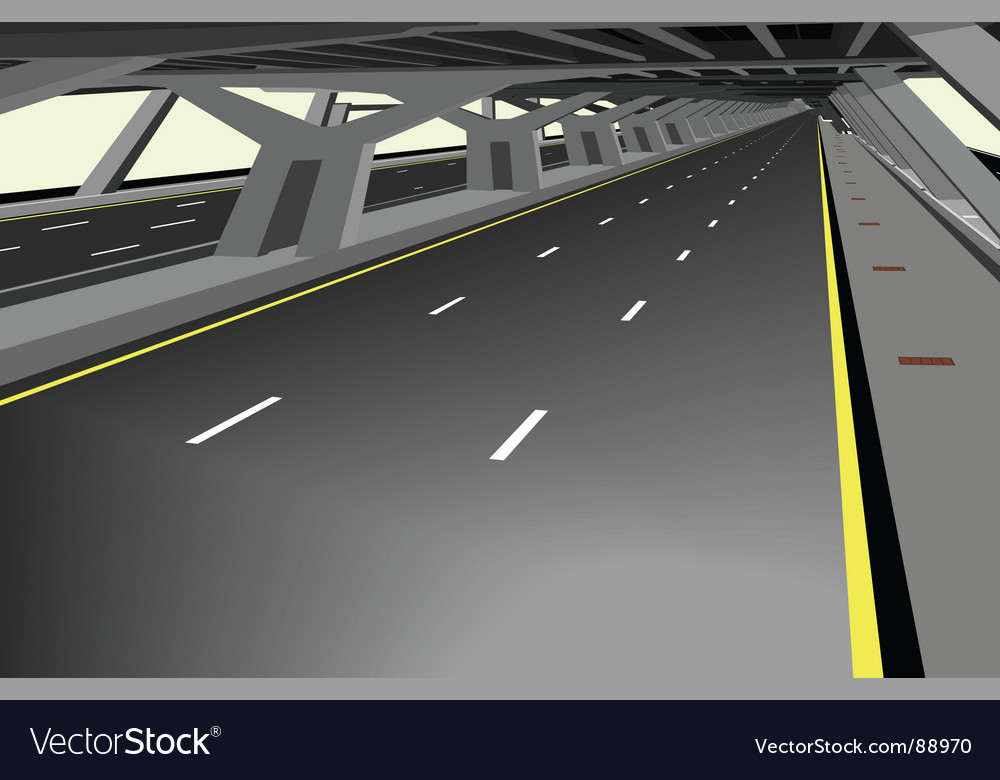 Covered highway vector | Price: 1 Credit (USD $1)