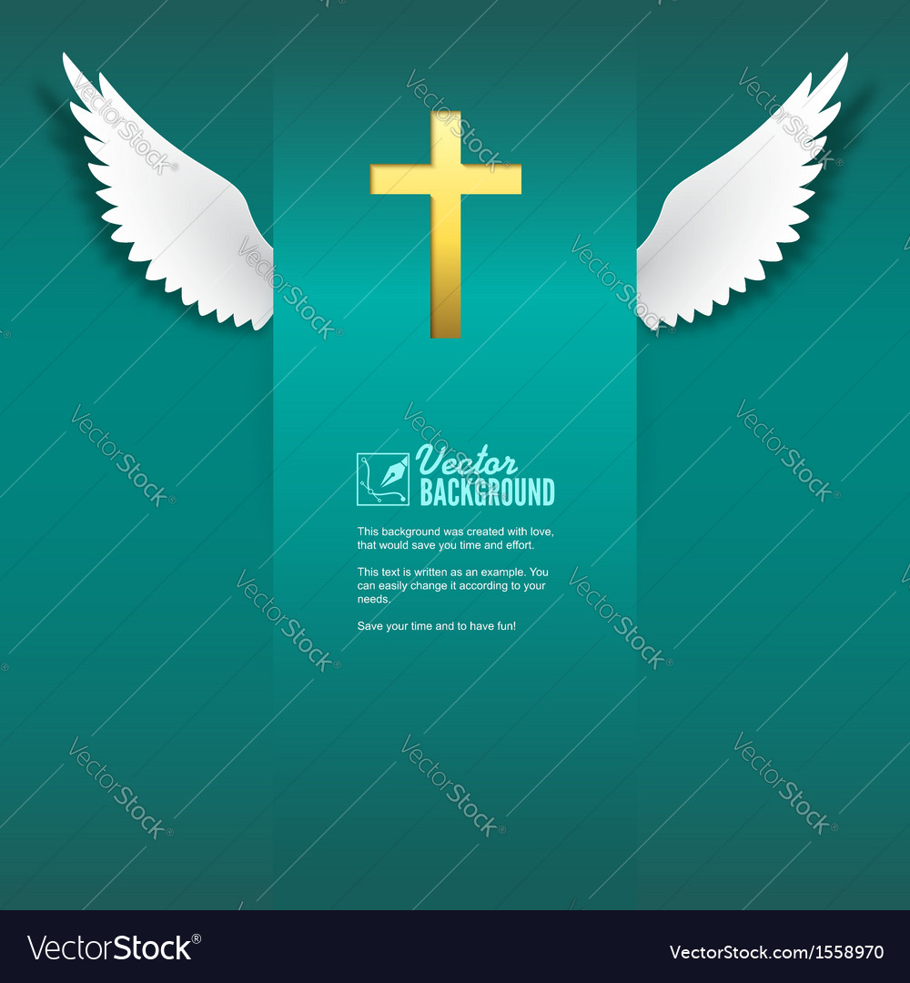 Cross and wings vector | Price: 1 Credit (USD $1)