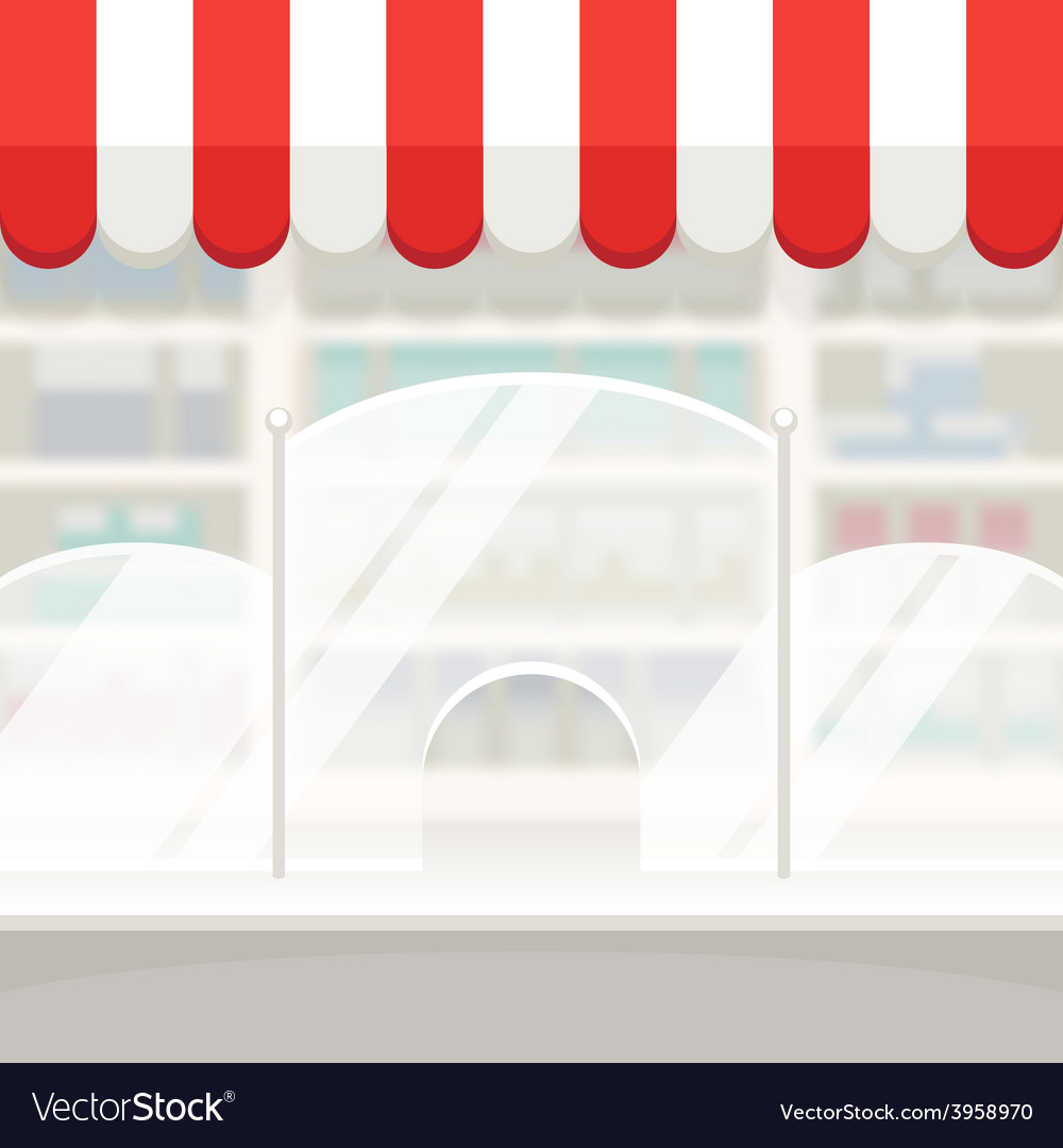 Facade of a shop store or pharmacy background vector | Price: 1 Credit (USD $1)