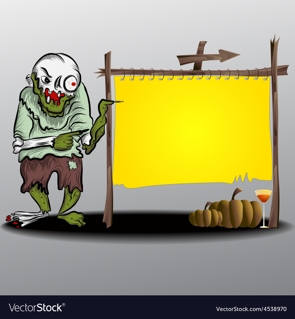 Frame halloween ghost and yellow frame vector | Price: 1 Credit (USD $1)