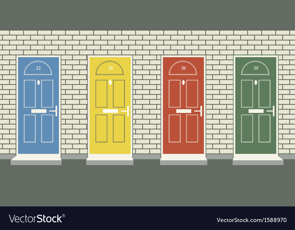 Front doors vector | Price: 1 Credit (USD $1)