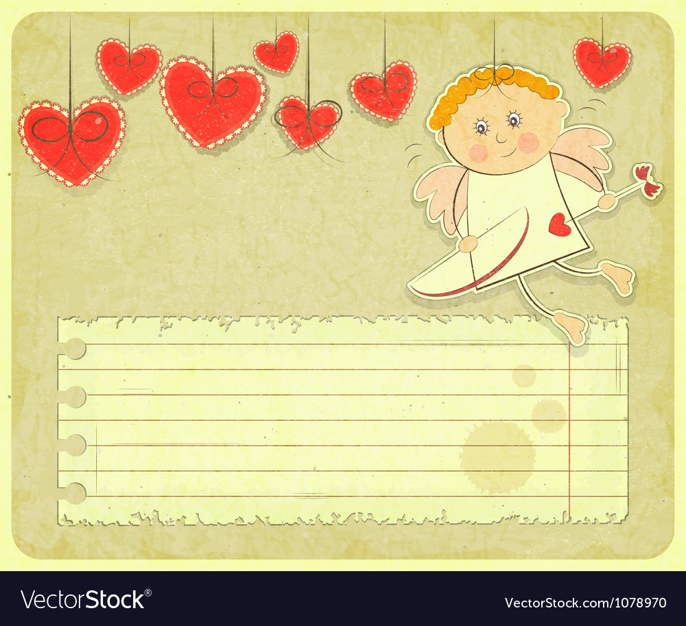 Retro valentines day card vector | Price: 1 Credit (USD $1)