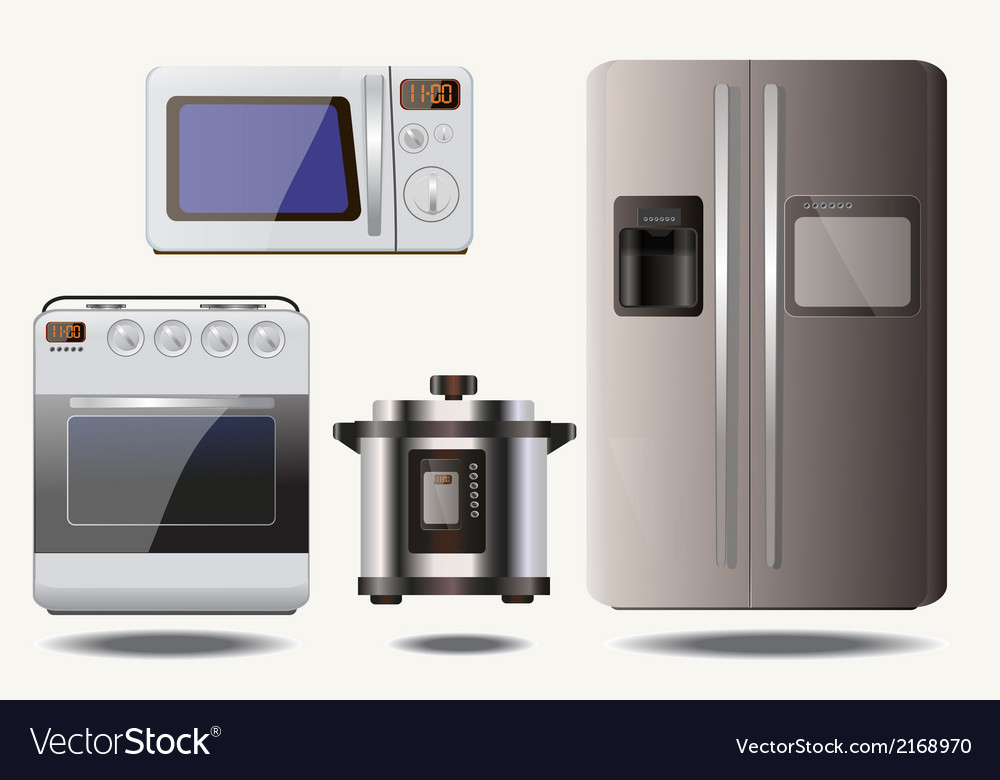 Set - household appliances vector | Price: 1 Credit (USD $1)
