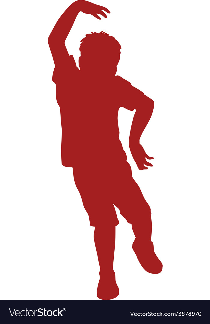 Silhouette of little boy vector   Price: 1 Credit (USD $1)