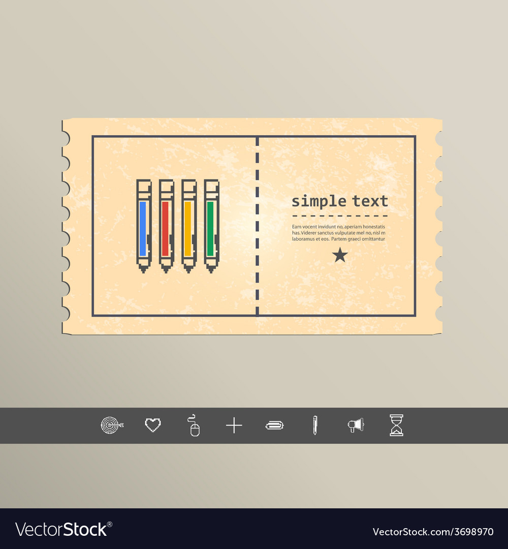 Simple stylish pixel icon handle design vector | Price: 1 Credit (USD $1)