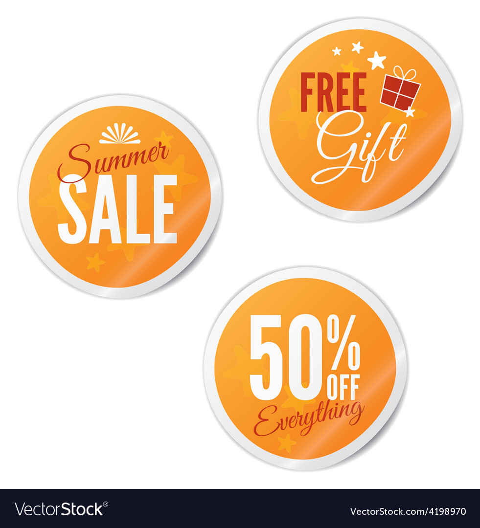 Summer sale retail stickers vector | Price: 1 Credit (USD $1)