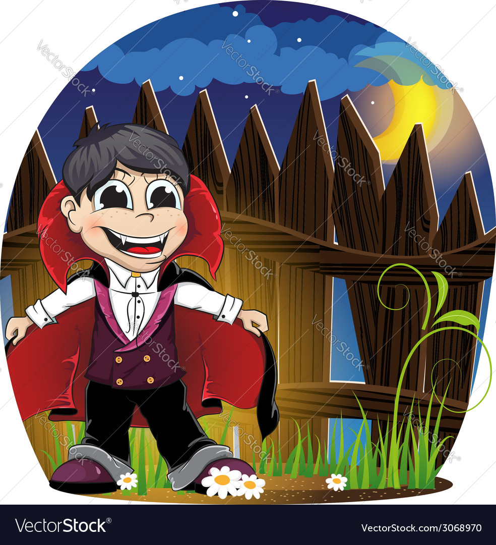Vampire boy vector | Price: 3 Credit (USD $3)