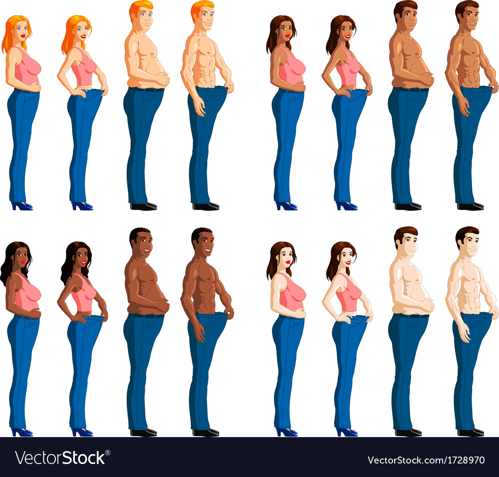 Weight loss vector | Price: 1 Credit (USD $1)