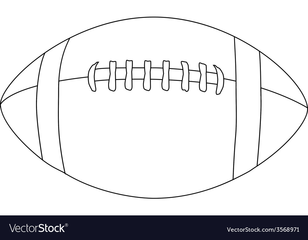 American football ball outline vector | Price: 1 Credit (USD $1)