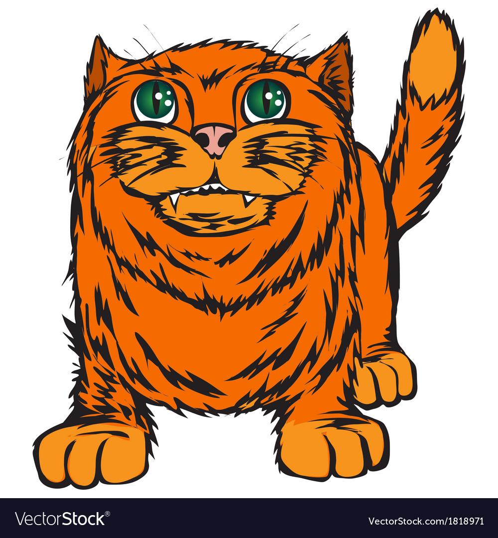 Big red cat vector | Price: 1 Credit (USD $1)