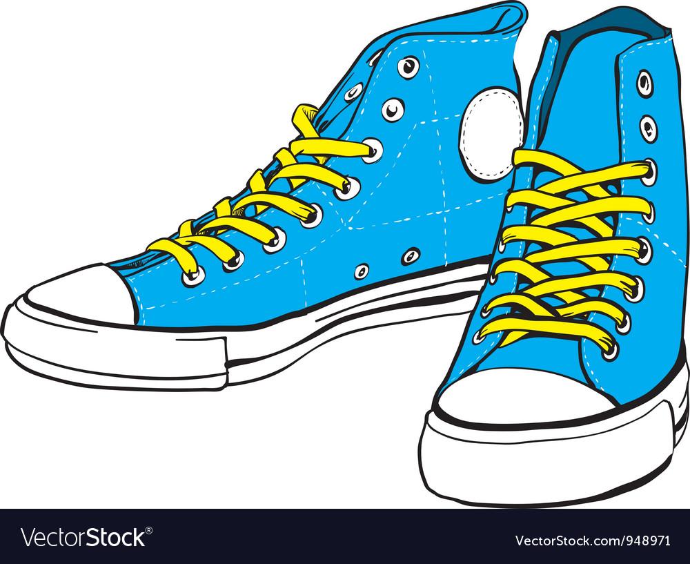 Blue sneakers vector   Price: 1 Credit (USD $1)