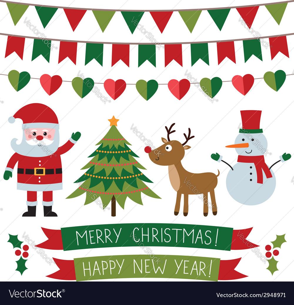 Christmas set vector   Price: 1 Credit (USD $1)
