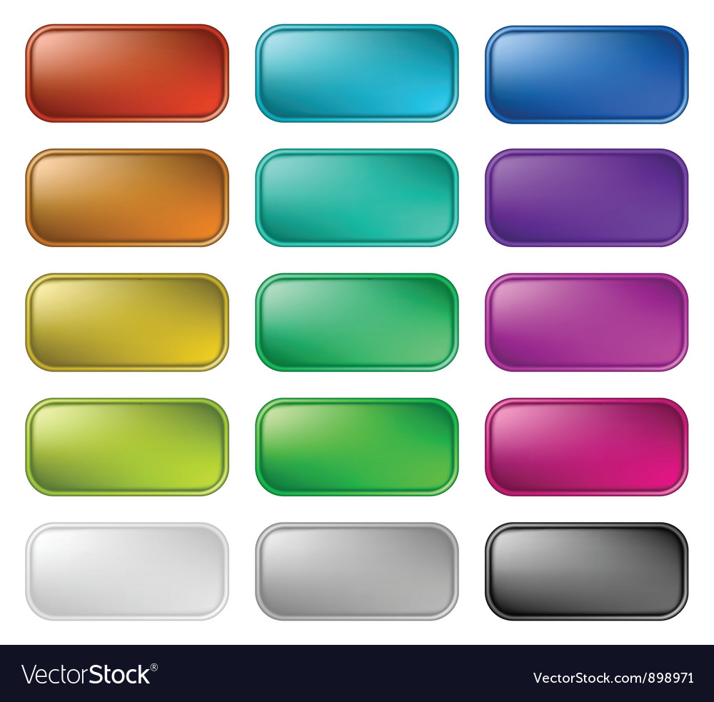 Glassy buttons for web vector | Price: 1 Credit (USD $1)