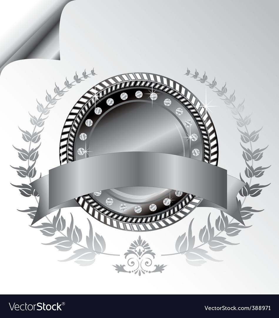 Laurel wreath medallion vector | Price: 1 Credit (USD $1)