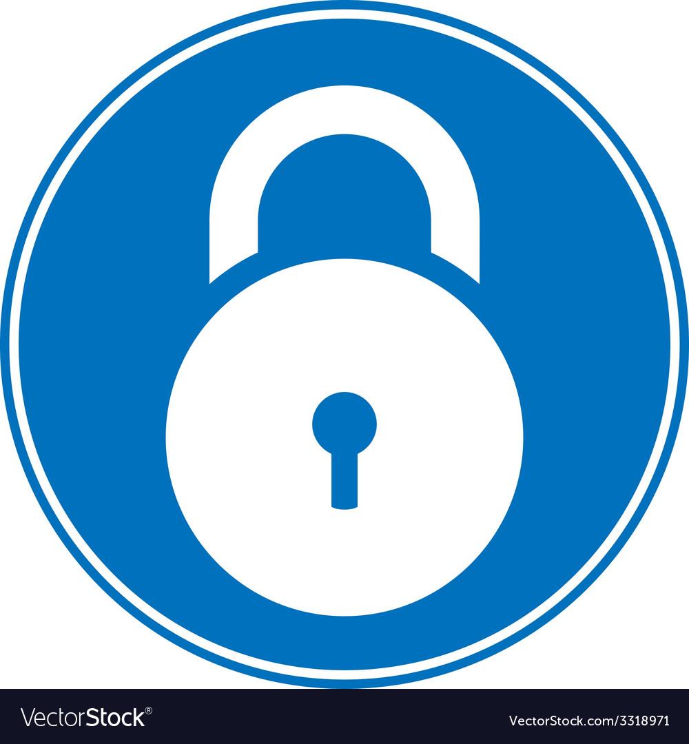 Lock symbol button vector | Price: 1 Credit (USD $1)