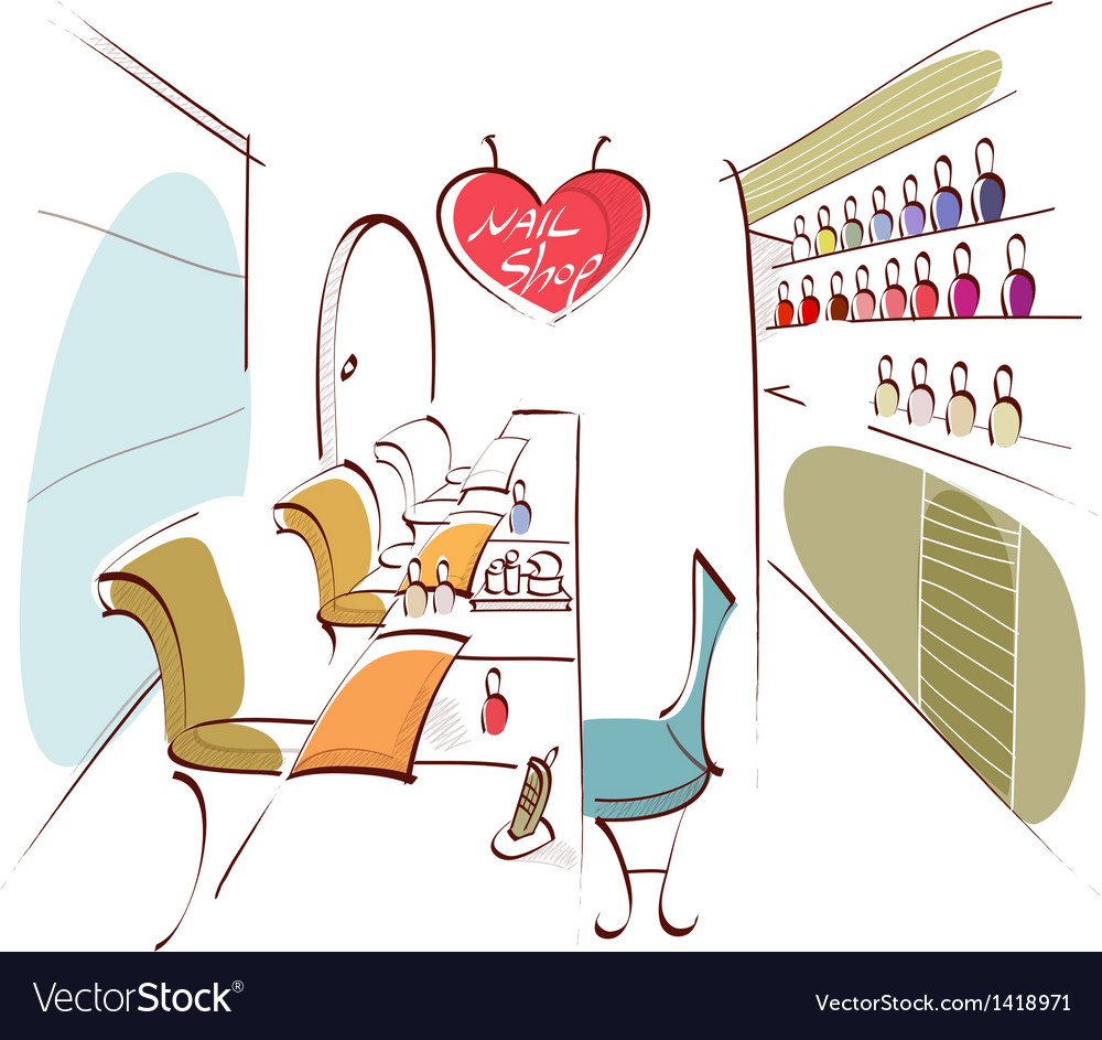 Nail shop background vector | Price: 1 Credit (USD $1)