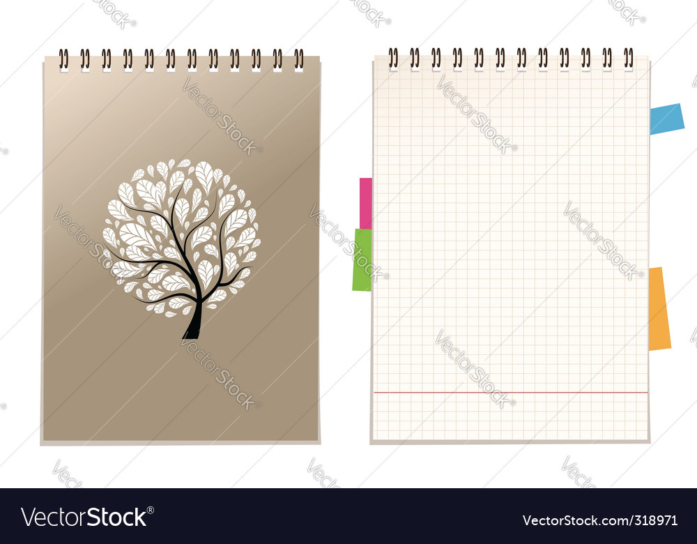Notebook cover vector | Price: 3 Credit (USD $3)