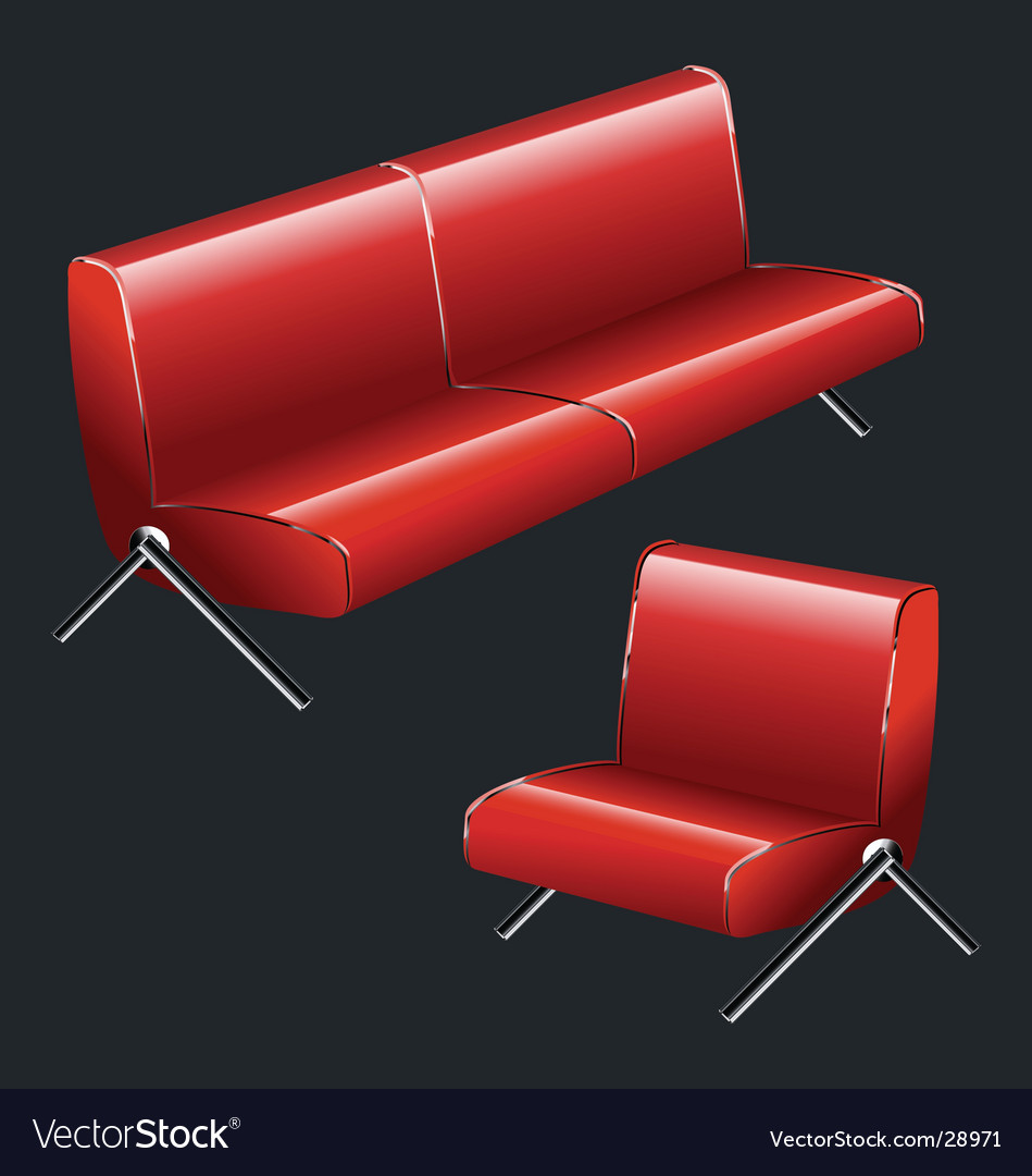 Sofa and chair vector | Price: 1 Credit (USD $1)