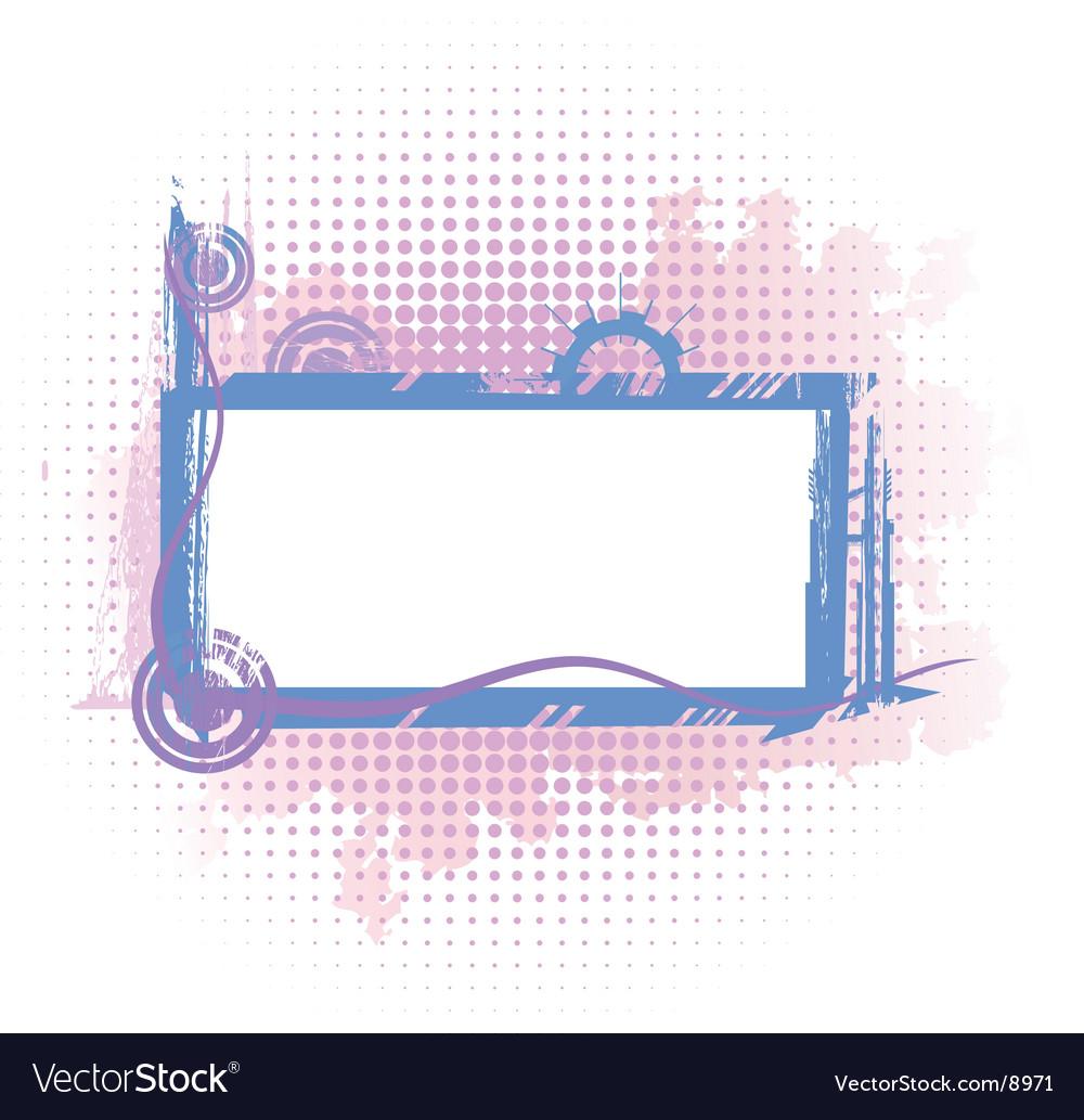 Violet industrial frame vector