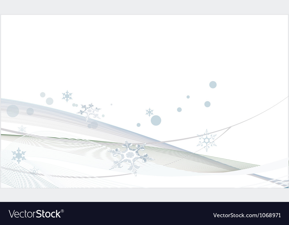 White christmas background with snowflakes vector | Price: 1 Credit (USD $1)