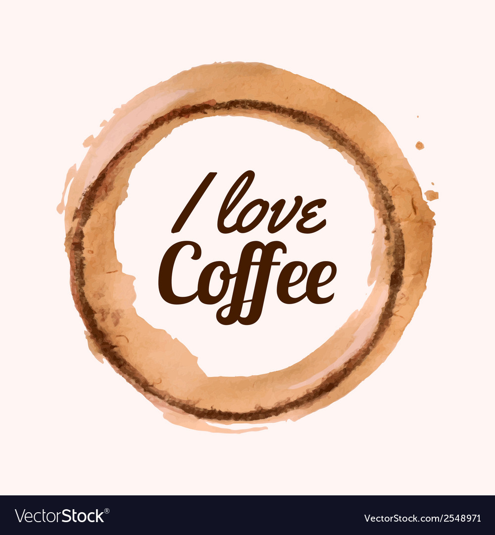 With i love coffee phrase and pour coffee vector | Price: 1 Credit (USD $1)