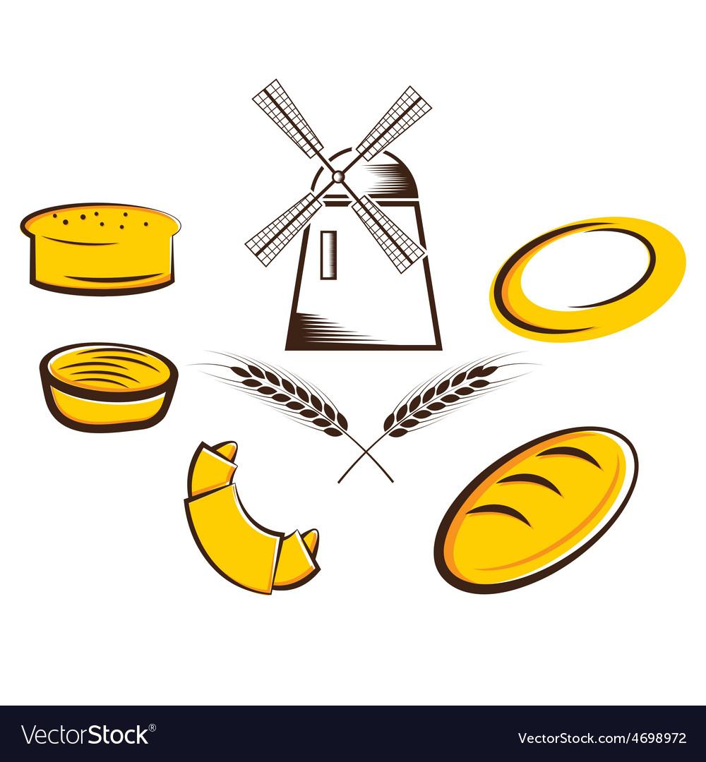 Bread set vector | Price: 1 Credit (USD $1)