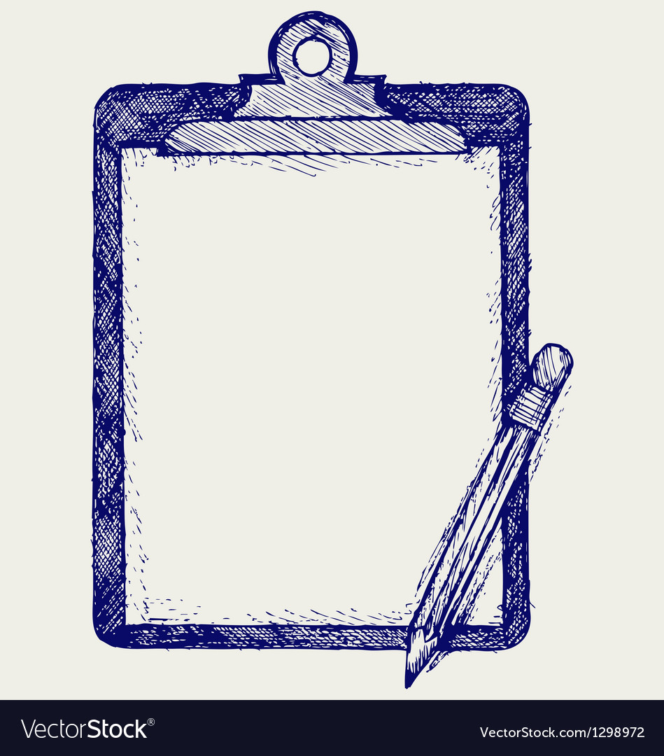 Clipboard with pencil vector | Price: 1 Credit (USD $1)