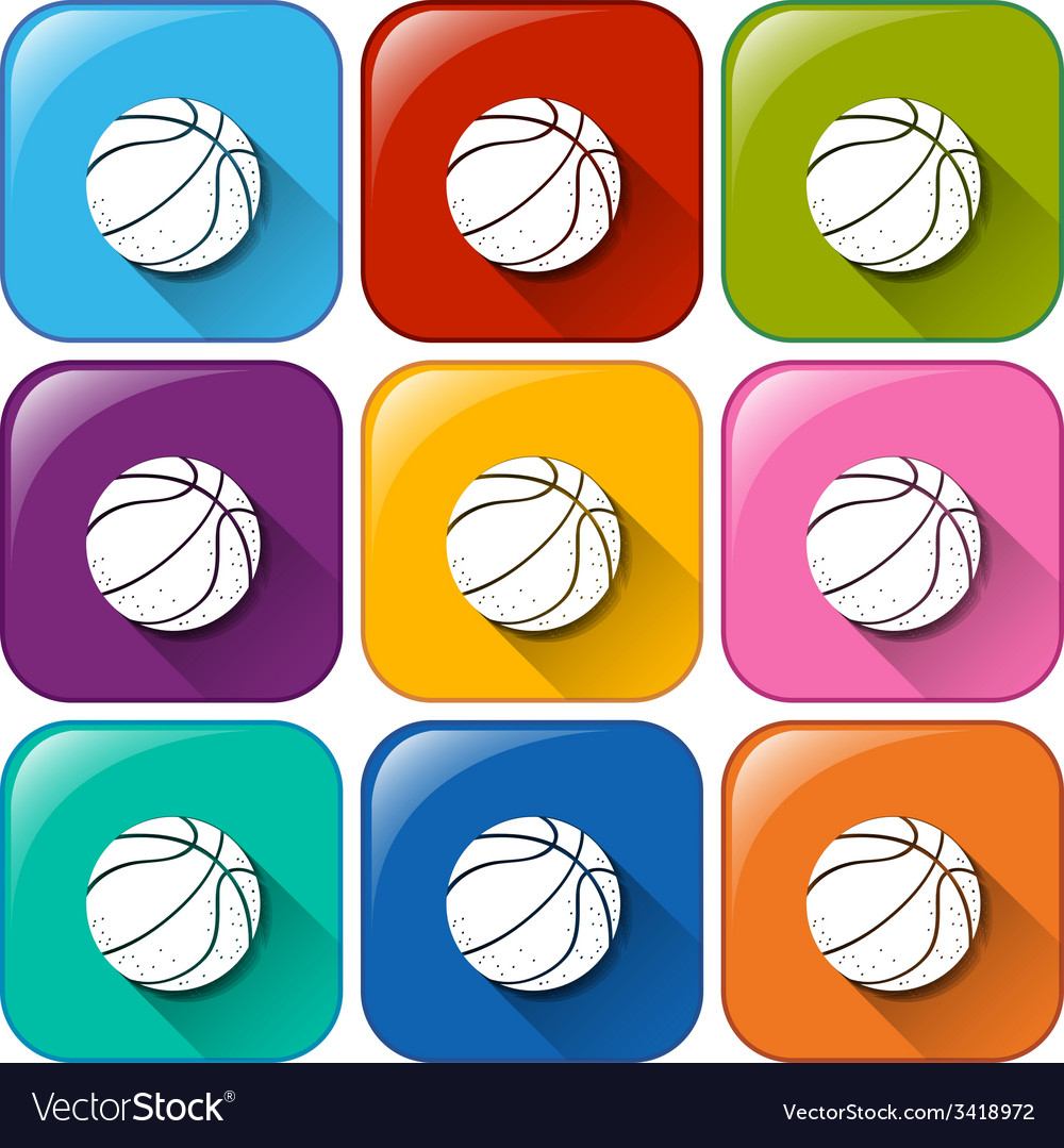 Colourful buttons with balls vector | Price: 1 Credit (USD $1)