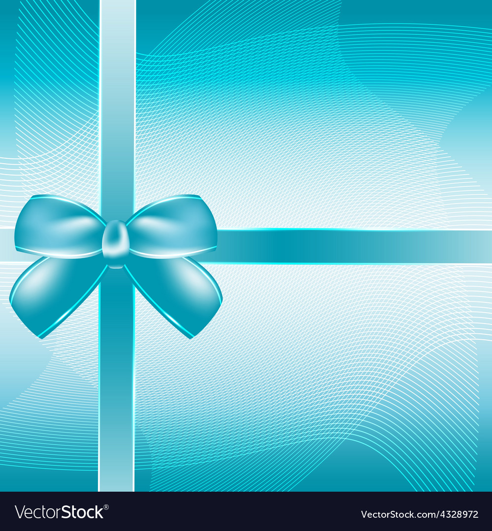 Cover of the present box blue background vector | Price: 1 Credit (USD $1)