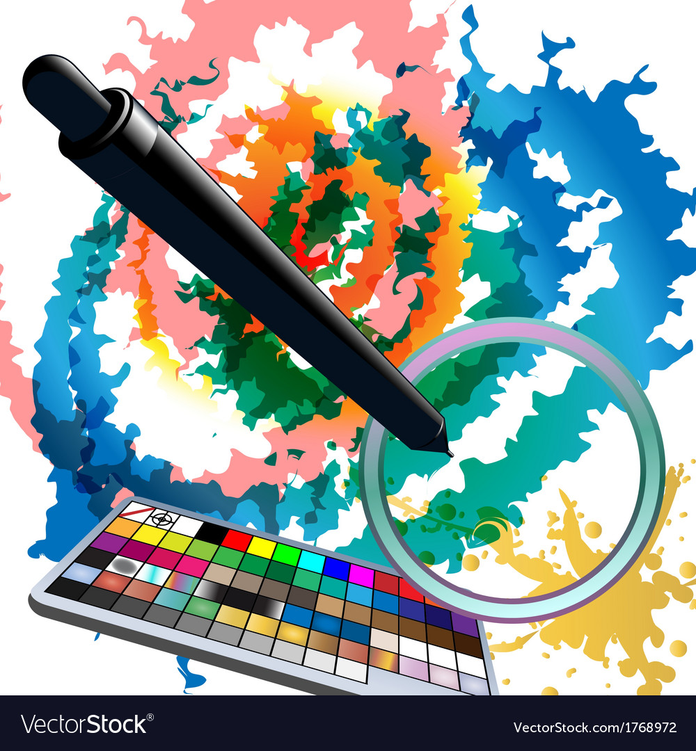 Digital watercolors vector | Price: 1 Credit (USD $1)