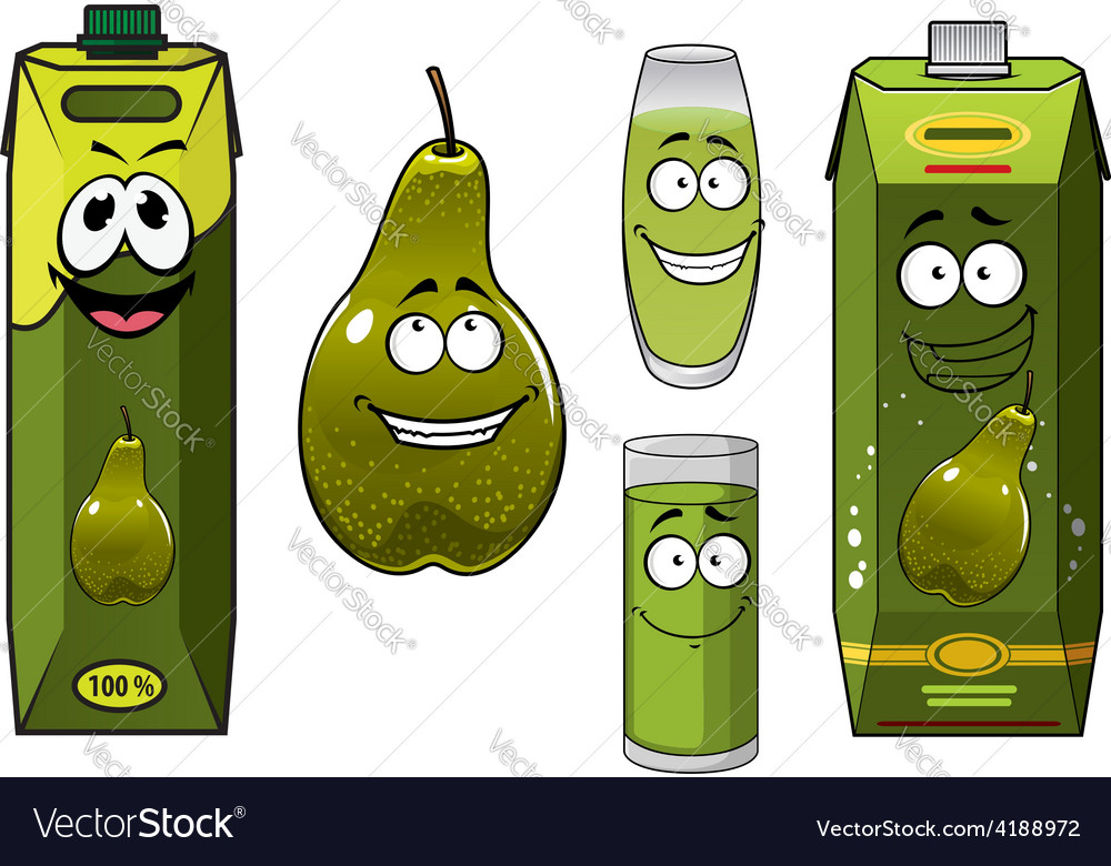 Green pear fruit and juices vector | Price: 1 Credit (USD $1)