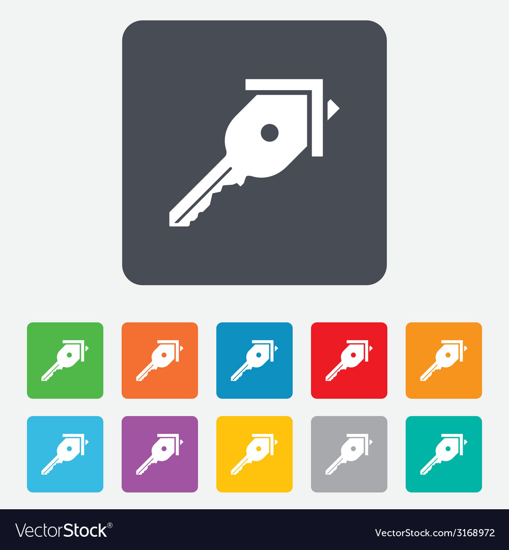 Key from the house sign icon unlock tool vector | Price: 1 Credit (USD $1)