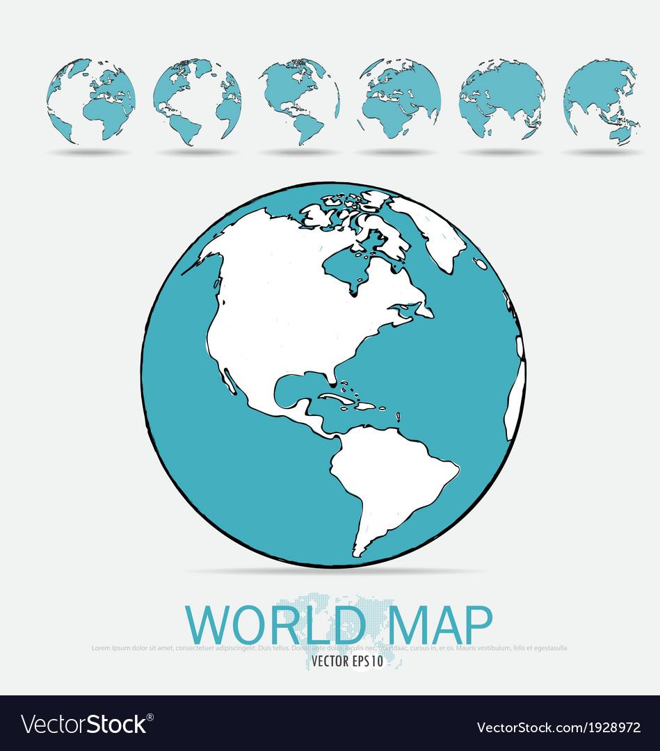 Modern globe vector   Price: 1 Credit (USD $1)