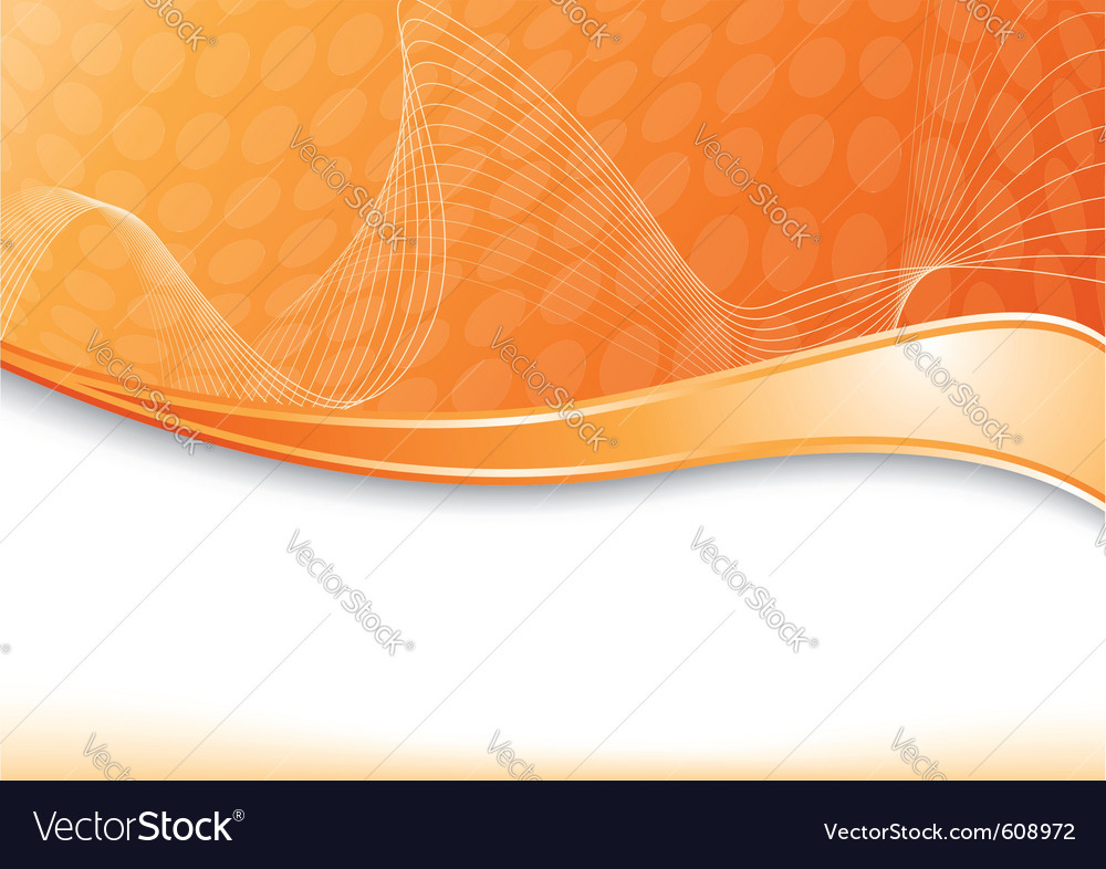 Orange card with wave vector | Price: 1 Credit (USD $1)