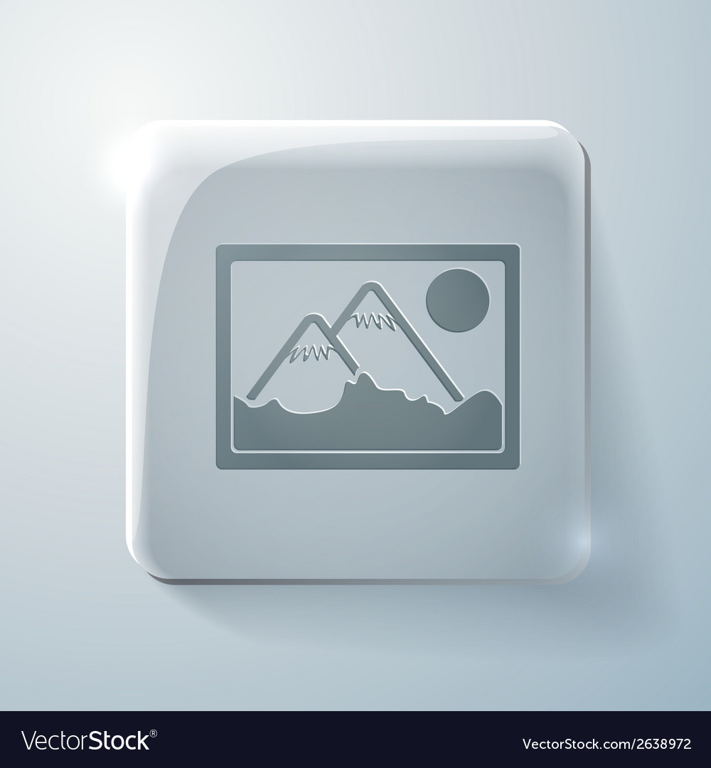 Picture image glass square icon vector | Price: 1 Credit (USD $1)