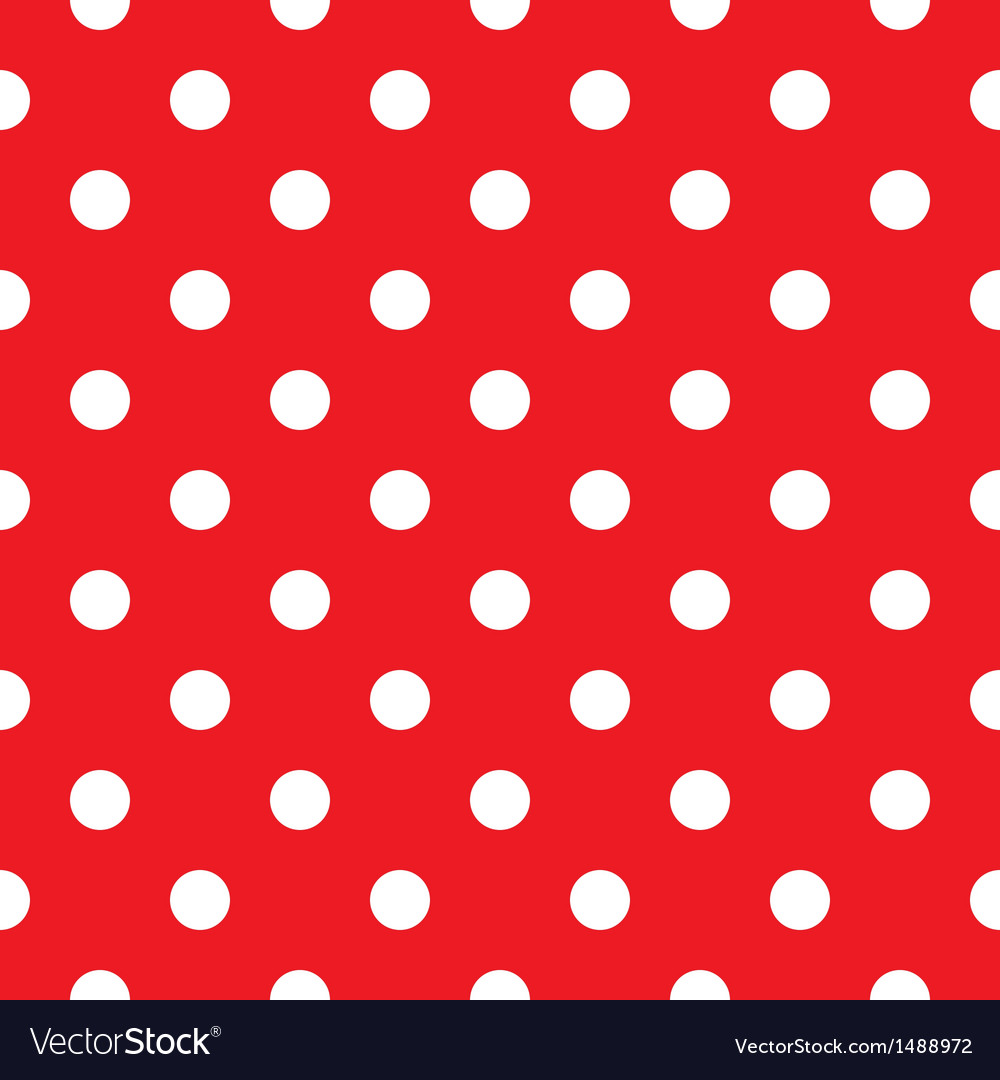 Red polka dot seamless pattern design vector | Price: 1 Credit (USD $1)