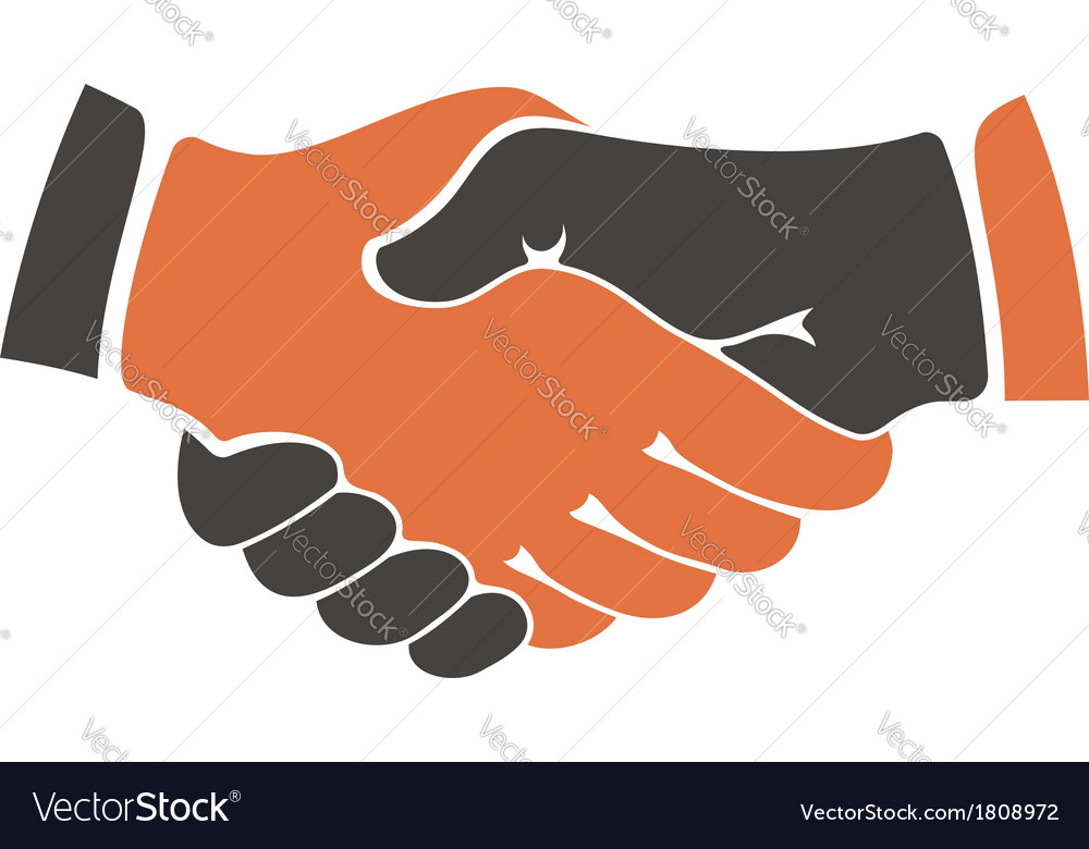 Shaking hands between cultural communities vector | Price: 1 Credit (USD $1)