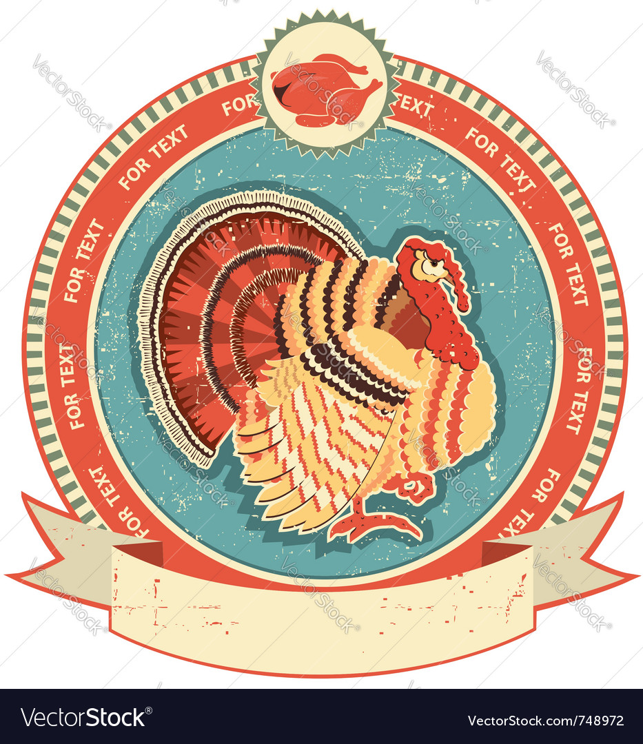 Turkey label vector | Price: 1 Credit (USD $1)