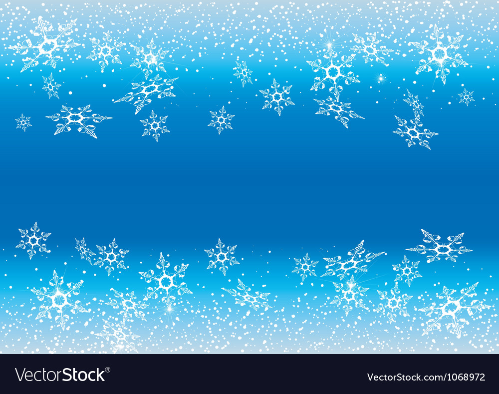 White snowflakes against a blue background vector | Price: 1 Credit (USD $1)