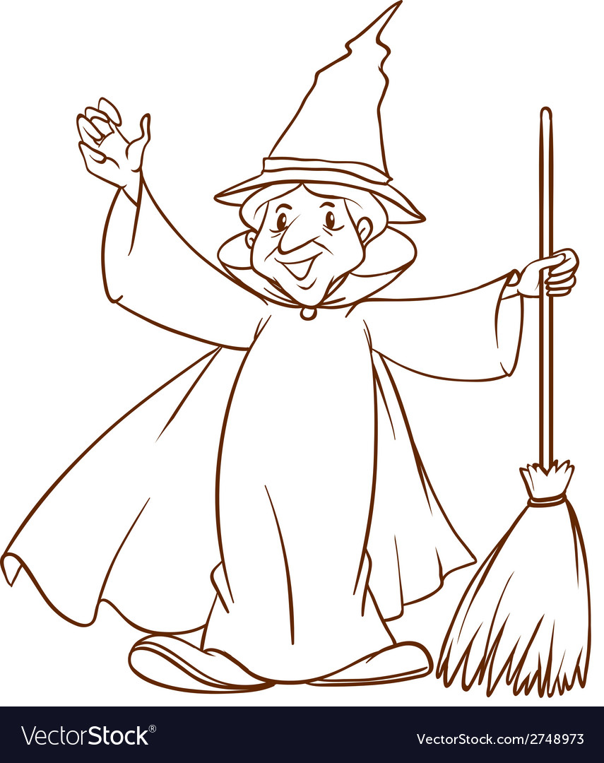 A simple sketch of a wizard vector | Price: 1 Credit (USD $1)