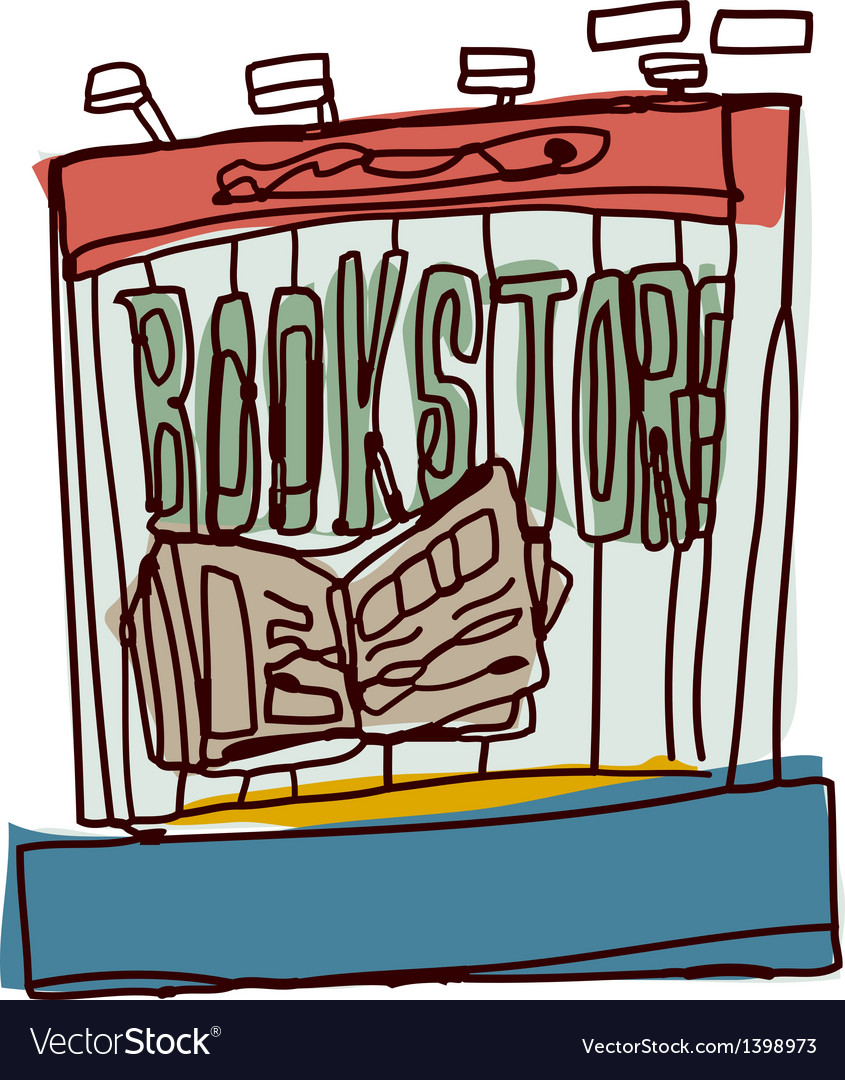 A view of bookstore vector | Price: 1 Credit (USD $1)