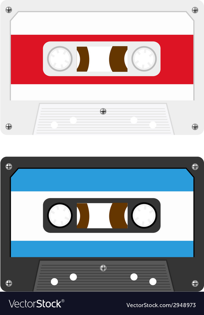 Audio cassette tapes vector | Price: 1 Credit (USD $1)