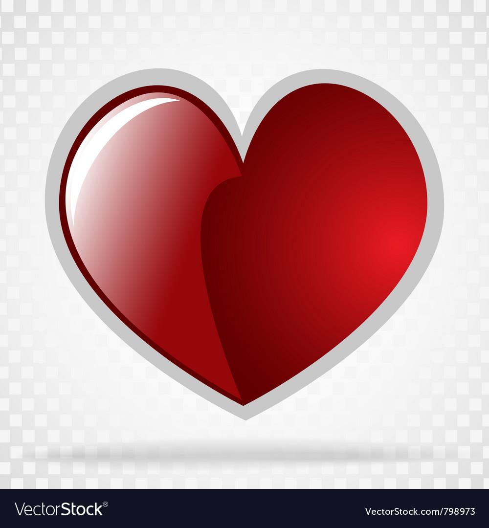 Background day valentine on white vector   Price: 1 Credit (USD $1)