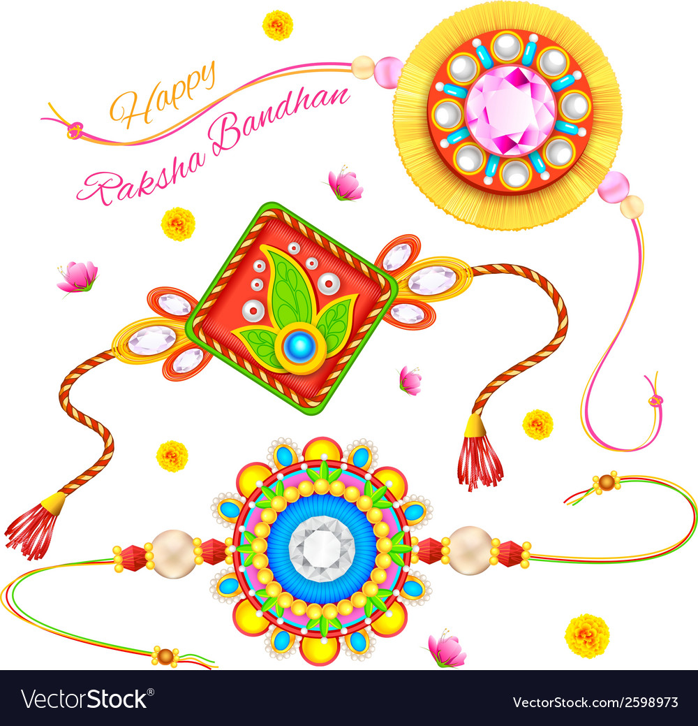 Decorative rakhi for raksha bandhan vector | Price: 1 Credit (USD $1)