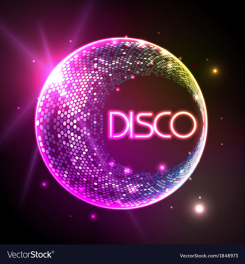 Disco ball baclground vector | Price: 1 Credit (USD $1)