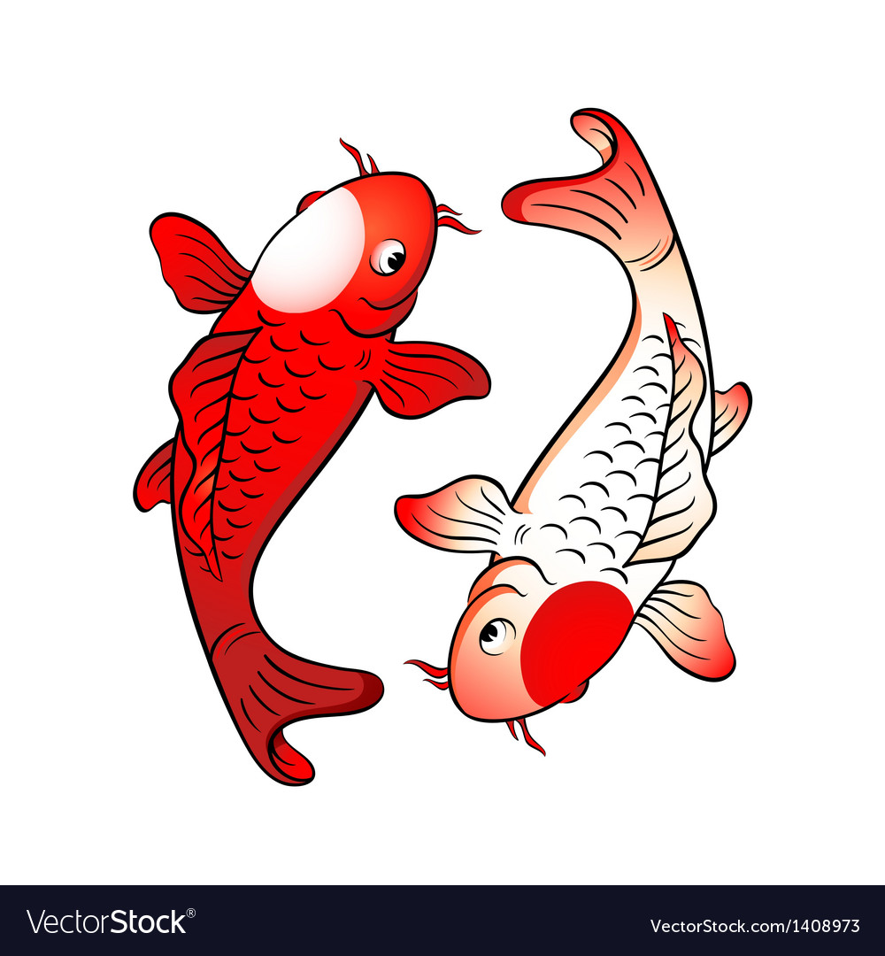Fish yin yang vector | Price: 1 Credit (USD $1)
